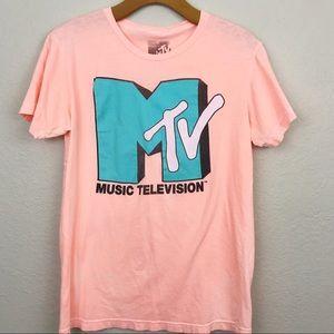MTV | graphic acid wash t shirt